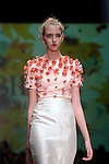 A model walks the runway during the Bibhu Mohapatra show at Fashion Houston at the Wortham Theater Wednesday Nov.13,2013.  (Dave Rossman photo)