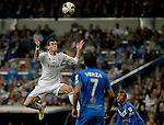 Real Madrid's Welsh striker Gareth Bale during the Spanish league football match Real Madrid Madrid vs U.D Almeria at the Santiago Bernabeu stadium in Madrid on April 12, 2014  PHOTOCALL3000 / DP