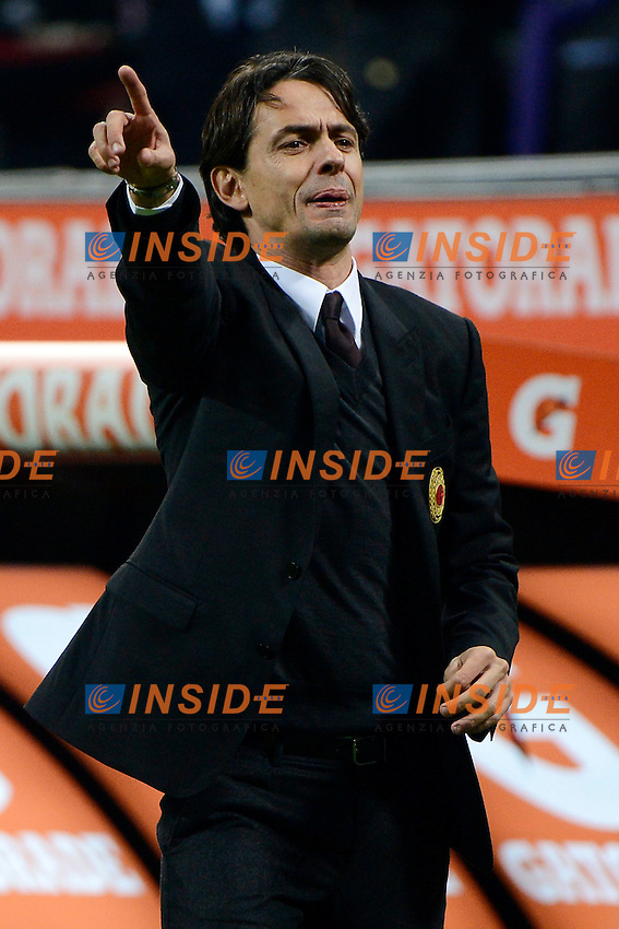 Filippo Inzaghi Milan<br /> Milano 23-11-2014 Stadio Giuseppe Meazza - Football Calcio Serie A Milan - Inter. Foto Giuseppe Celeste / Insidefoto