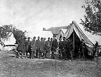 President Lincoln on the Battle-Field of Antietam.  October 1862. Alexander Gardner. (War Dept.)<br /> Exact Date Shot Unknown<br /> NARA FILE #:  165-SB-23<br /> WAR & CONFLICT BOOK #:  119