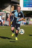 Michael Harriman of Wycombe Wanderers during the Sky Bet League 2 match between Wycombe Wanderers and Mansfield Town at Adams Park, High Wycombe, England on 25 March 2016. Photo by David Horn.