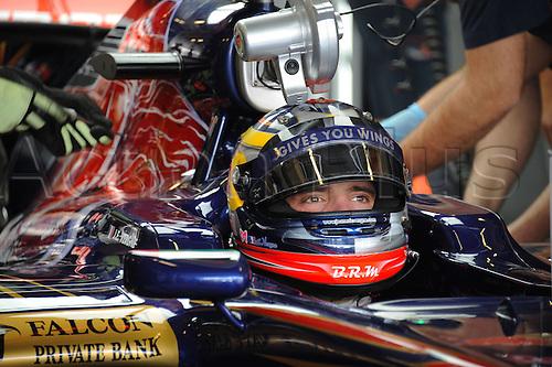 12.11.2011  Abu Dhabi, United Arab Emirates.  Yas Marina Circuit Frenchman Jean Eric Vergne ON The Toro Rosso during Friday Morning Session Formula 1 Grand Prix of Abu Dhabi, UAE.
