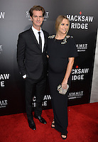 LOS ANGELES, CA. October 24, 2016: Actors Andrew Garfield &amp; Teresa Palmer at the Los Angeles premiere of &quot;Hacksaw Ridge&quot; at The Academy's Samuel Goldwyn Theatre, Beverly Hills.<br /> Picture: Paul Smith/Featureflash/SilverHub 0208 004 5359/ 07711 972644 Editors@silverhubmedia.com