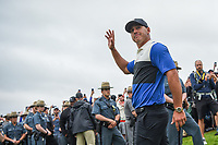 Brooks Koepka (USA) approaches the green on 18 for the trophy presentation after winning the 2019 PGA Championship, Bethpage Black Golf Course, New York, New York,  USA. 5/19/2019.<br /> Picture: Golffile | Ken Murray<br /> <br /> <br /> All photo usage must carry mandatory copyright credit (© Golffile | Ken Murray)
