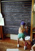 Primary school literacy class.
