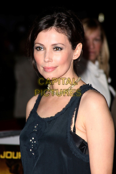 JANE MARCH .World Premiere of 'Clash of the Titans' at the Empire cinema, Leicester Square, London, England, March 29th 2010. arrivals headshot portrait black gold necklace bra strap sleeveless .CAP/AH.©Adam Houghton/Capital Pictures.
