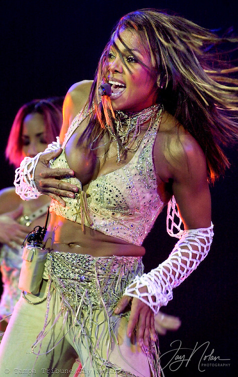Janet Jackson performed at the Ice Palace after an earlier concert had been cancelled last month due to the attack in New York.