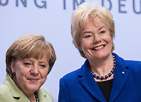 Berlin, Bundeskanzlerin Angela Merkel (CDU, l.), am Dienstag (11.06.13) in Berliner Deutschlandhaus, anlässlich des Baubeginns Dokumentationszentrums der Stiftung Flucht, Vertreibung, Versöhnung, neben Bundestagsabgeordnete Erika Steinbach (CDU). Foto: Maja Hitij/CommonLens