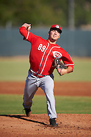 Cincinnati Reds pitcher Matt Blandino (89) during an Instructional League game against the Milwaukee Brewers on October 14, 2016 at the Maryvale Baseball Park Training Complex in Maryvale, Arizona.  (Mike Janes/Four Seam Images)