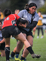 Action from the Hurricanes Region Secondary Schools Girls rugby union final between Manukura and St Mary's College at Awatapu College in Palmerston North, New Zealand on Saturday, 25 August 2018. Photo: Dave Lintott / lintottphoto.co.nz