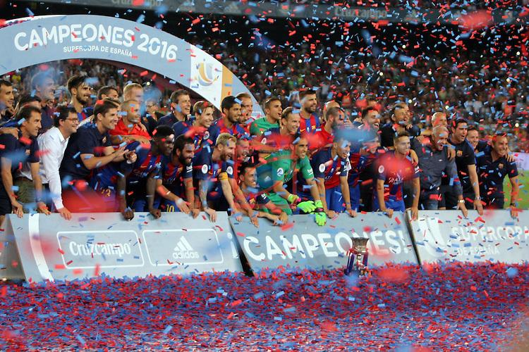 League Santander 2016/2017.<br /> Supercopa de Espa&ntilde;a - Vuelta.<br /> FC Barcelona vs Sevilla FC: 3-0.
