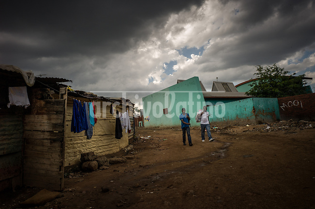 Johannesburg, South Africa, dic 2013. Alexandra is the biggest Slum in Johannesburg. Here Mandela leaved in the ´40 as soon as he left his hometown.Alexandra is one of the poorest urban areas in the country