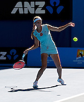 Gisela Dulko (ARG) & Flavia Pennetta (ITA) (1) against Maria Kirilenko (RUS) & Victoria Azarenka (BLR) (12) in the final of the women's doubles. Gisela Dulko & Flavia Pennetta beat Maria Kirilenko & Victoria Azarenka 2-6 7-5 6-1..International Tennis - Australian Open  -  Melbourne Park - Melbourne - Day 12 - Fri 28th January 2011..© Frey - AMN Images, Level 1, Barry House, 20-22 Worple Road, London, SW19 4DH.Tel - +44 208 947 0100.Email - Mfrey@advantagemedianet.com.Web - www.amnimages.photshelter.com