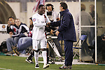 20 March 2008: Freddy Adu (USA) (11) receives a handshake from United States U-23 Head Coach Peter Nowak (POL) (right) as he exits the game. The United States U-23 Men's National Team defeated the Canada U-23 Men's National Team 3-0 at LP Field in Nashville,TN in a semifinal game during the 2008 CONCACAF Men's Olympic Qualifying Tournament. With the victory, the United States qualified for the 2008 Beijing Olympics.