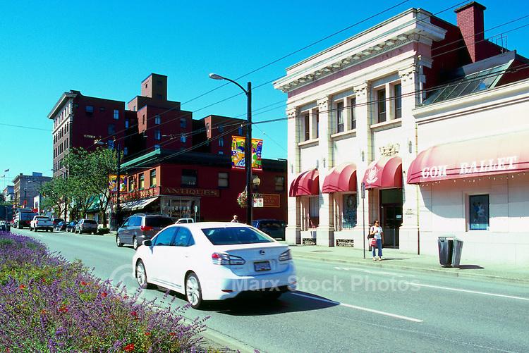 Vancouver, BC, British Columbia, Canada - Main Street Scene, Shops in Mount Pleasant Neighbourhood