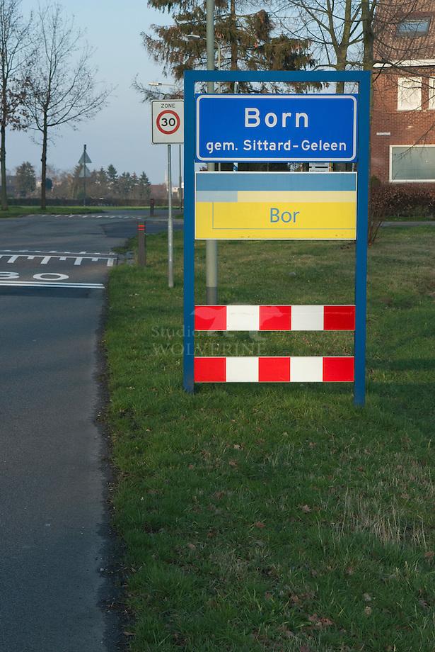 Born, plaatsnaambord