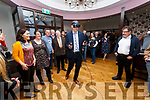 Maurice Fitzgerald gets a taste of the Virtual Reality World at the launch of the SMARTLab VR First in the Skellig Star Hotel, Cahersiveen on Monday .