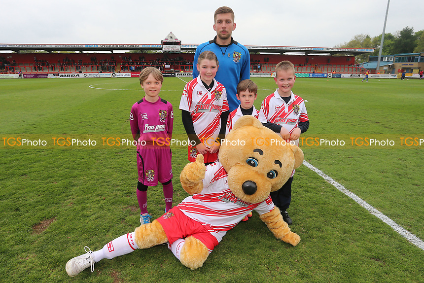 Boro Bear with the mascots during Stevenage vs Accrington Stanley, Sky Bet EFL League 2 Football at the Lamex Stadium on 6th May 2017