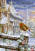 Marcello, CHRISTMAS LANDSCAPES, WEIHNACHTEN WINTERLANDSCHAFTEN, NAVIDAD PAISAJES DE INVIERNO, paintings+++++,ITMCXM1664,#XL# ,red robin