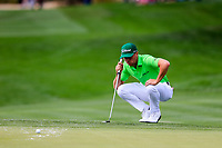Justin Thomas (USA) on the 9th during the 3rd round of the Waste Management Phoenix Open, TPC Scottsdale, Scottsdale, Arisona, USA. 02/02/2019.<br /> Picture Fran Caffrey / Golffile.ie<br /> <br /> All photo usage must carry mandatory copyright credit (&copy; Golffile | Fran Caffrey)