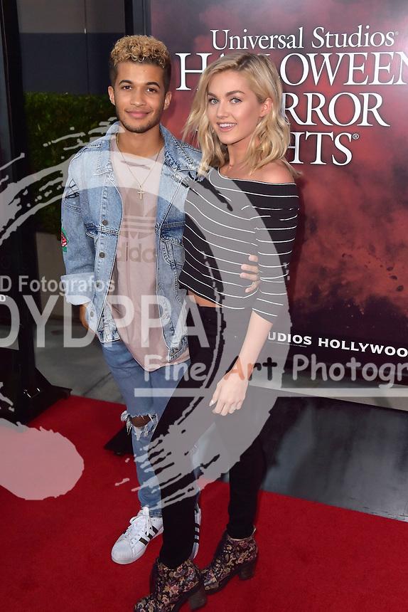 Jordan Fisher und Lindsay Arnold bei der Eröffnung der 'Halloween Horror Nights' in den Universal Studios. Universal City, 15.09.2017