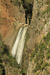 Israel, Upper Galilee, the Tanur waterfall in Nahal Ayoun Nature reserve
