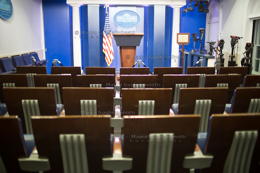 The White House press room LA sala stampa della Casa Bianca