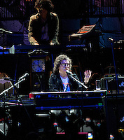 Venezuela: Caracas,15/06/13 <br /> Argentine rock star Charly Garcia,performs during his concert of his tour The Unknown Dimension,in CCC Sambil ,Caracas, accompanied by his band The Prostitution<br /> Carlos Hernandez/Archivolatino