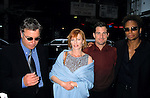 William Peterson , Marg Helgenberger, George Eads and Gary Dourdan.( Cast Of CSI ) at Carnegie Hall, New York City. May 2001.