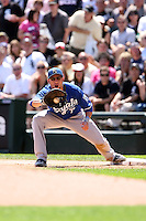 August 15 2008:  First baseman Ross Gload of the Kansas City Royals during a game at U.S. Cellular Field in Chicago, IL.  Photo by:  Mike Janes/Four Seam Images