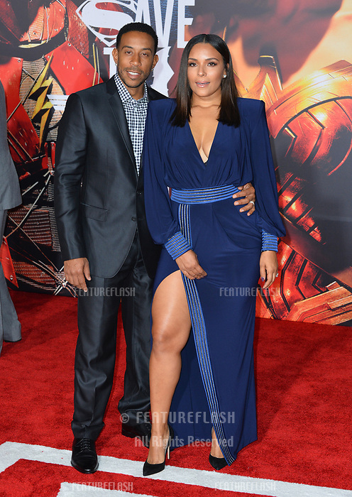 Ludacris &amp; Eudoxie Mbouguiengue at the world premiere for &quot;Justice League&quot; at The Dolby Theatre, Hollywood. Los Angeles, USA 13 November  2017<br /> Picture: Paul Smith/Featureflash/SilverHub 0208 004 5359 sales@silverhubmedia.com