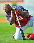 15 March 2009: Washington Nationals' outfielder Wily Mo Pena awaits his turn in the batting cage prior to a Spring Training game against the Detroit Tigers at Space Coast Stadium in Viera, Florida. The Tigers shut out the Nationals 3-0 in the Grapefruit League matchup. Mandatory Photo Credit: Ed Wolfstein Photo