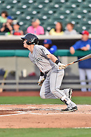 Jackson Generals third baseman Brock Hebert (45) swings at a pitch during a game against the Tennessee Smokies at Smokies Stadium on July 5, 2016 in Kodak, Tennessee. The Generals defeated the Smokies 6-4. (Tony Farlow/Four Seam Images)