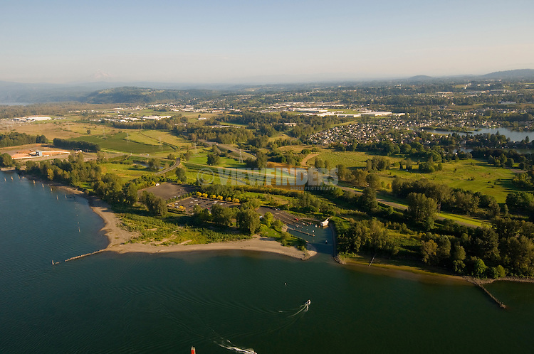 Aerial View of Chinook Landing, Fairview, Oregon