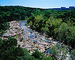 The Barton Creek Greenbelt hosts parties, swimmers, tubers, climbers, bikers and runners in Austin, Texas...BRANDON WILDE/AUSTIN MULTIMEDIA GROUP.Ben Sklar for VICE Magazine