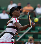 Venus Williams (USA) defeats Paula Ormaechea (ARG) 4-6, 6-1,6-3 in first round play.