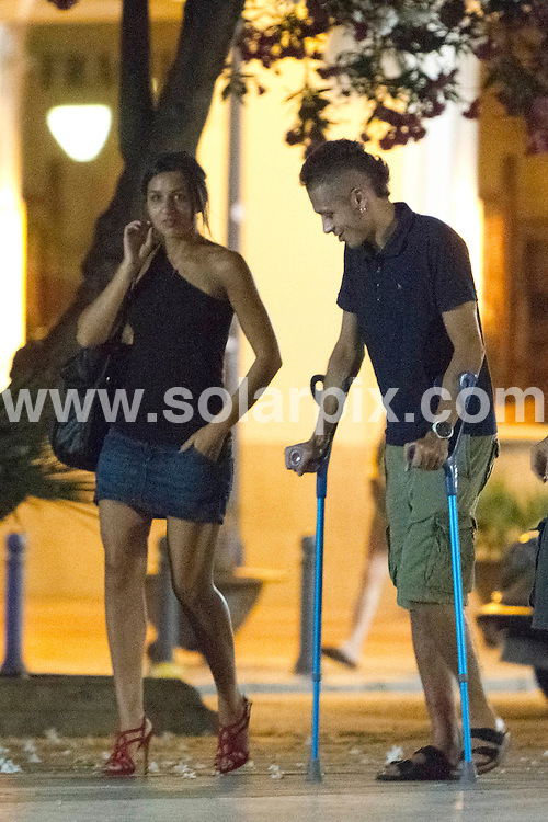 **ALL-ROUND EXCLUSIVE PICTURES FROM SOLARPIX.COM**.**WORLD SYNDICATION RIGHTS EXCEPT BELGIUM, GERMANY, HOLLAND, SCANDINAVIA, SOUTH AMERICA, SPAIN, & USA**.Valentino Rossi on out on the town whilst on holiday in In Ibiza with his new girlfriend and family,.Seven time MotoGP world champion with a broken right leg after a crash during training in June which has ended his 2010 title hopes...This pic: Valentino Rossi..JOB REF: 11604     SKX      DATE:  3.07.2010.**MUST CREDIT SOLARPIX.COM OR DOUBLE FEE WILL BE CHARGED**.**MUST AGREE FEE BEFORE ONLINE USAGE**.**CALL US ON: +34 952 811 768 or LOW RATE FROM UK 0844 617 7637**