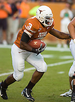 30 September 2006: Texas back Chris Ogbonnaya runs with the ball during the Longhorns 56-3 victory over the Sam Houston State Bearkats at Darrell K Royal Memorial Stadium in Austin, TX.