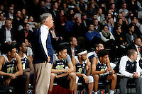 July 12, 2016: MIKE MONTGOMERY coach of the PAC-12 all stars watches the play during game 1 of the Australian Boomers Farewell Series between the Australian Boomers and the American PAC-12 All-Stars at Hisense Arena in Melbourne, Australia. Sydney Low/AsteriskImages.com