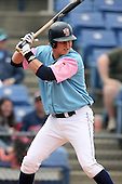 May 3, 2009:  Shawn Bowman of the Binghamton Mets, Eastern League Class-AA affiliate of the New York Mets, during a game at the NYSEG Stadium in Binghamton, NY.  The Mets wore special blue and pink jerseys that were auctioned off after the game to benefit breast and prostate cancer.  Photo by:  Mike Janes/Four Seam Images