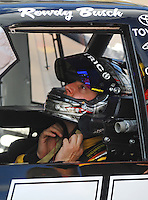 Nov. 13, 2009; Avondale, AZ, USA; NASCAR Camping World Truck Series driver Kyle Busch during qualifying prior to the Lucas Oil 150 at Phoenix International Raceway. Mandatory Credit: Mark J. Rebilas-