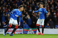 Ianis Hagi of Rangers celebrates making it three two during Rangers vs SC Braga, UEFA Europa League Football at Ibrox Stadium on 20th February 2020
