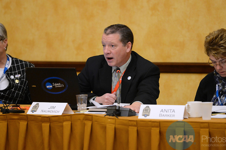 16 JAN 2013: The Division II Management Council during the 2013 NCAA Convention held at the Gaylord Texan in Grapevine, TX. Stephen Nowland/NCAA Photos.Pictured: Jim Naumovich