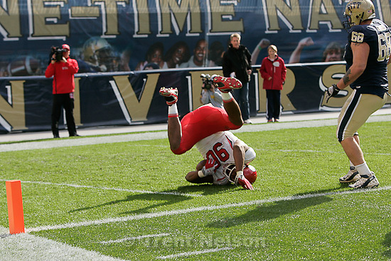 Trent Nelson  |  The Salt Lake Tribune.Utah's Derrick Shelby pulls down an interception and dives into the end zone for a second half touchdown. Utah vs. Pitt, college football at Heinz Field Stadium in Pittsburgh, Pennsylvania, Saturday, October 15, 2011.