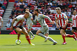 Ben Close of Portsmouth goes past Grant Leadbitter of Sunderland. Sunderland 2 Portsmouth 1, 17/08/2019. Stadium of Light, League One. Photo by Paul Thompson.
