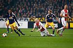 Nederland, Amsterdam, 20 februari 2014<br /> Europa League<br /> Seizoen 2013-2014<br /> Ajax-FC Salzburg<br /> Christophn Leitgeb van FC Salzburg haalt Davy Klaassen van Ajax onderuit