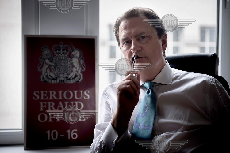 David Green, Director of the Serious Fraud Office, photographed in his office in central London.