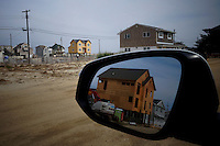Houses are seen under reconstruction while NJ's governor Chris Christie visited the Jersey shore's reconstruction, marking the second anniversary of Sandy storm in New Jersey. 10.29.2014. Eduardo MunozAlvarez/VIEWpress