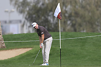 Richard McEvoy (ENG) on the 1st during Round 1 of the Omega Dubai Desert Classic, Emirates Golf Club, Dubai,  United Arab Emirates. 24/01/2019<br /> Picture: Golffile | Thos Caffrey<br /> <br /> <br /> All photo usage must carry mandatory copyright credit (&copy; Golffile | Thos Caffrey)