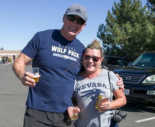 Rich and Susan Putman (wide receiver Ben Putman's parents) during the Nevada vs Weber State football game in Reno, Nevada on Saturday, Sept. 14, 2019.